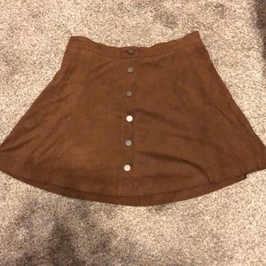 Jolt suede skirt with buttons! Super cute for fall